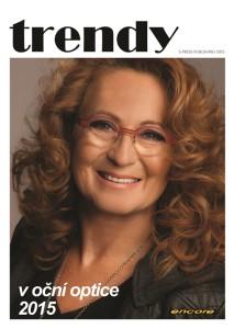 Titulní obálka časopisu Trendy 2015, Simona Stašová